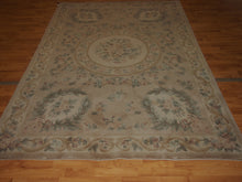 Load image into Gallery viewer, 6' X 9' Abusson Tone-on-Tone Traditional Hand-knotted Ivory,Beige Rectangle Wool Rug - Direct Rug Import | Rugs in Chicago, Indiana,South Bend,Granger