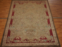 Load image into Gallery viewer, 5'1.1'' X 9' Abusson Medallion Traditional Hand-knotted Tan Rectangle Wool Rug - Direct Rug Import | Rugs in Chicago, Indiana,South Bend,Granger