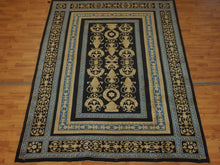 Load image into Gallery viewer, 5'7'' X 8'7'' Abusson Vase Frame traditional Hand-knotted Gold,Blue Rectangle wool Rug - Direct Rug Import | Rugs in Chicago, Indiana,South Bend,Granger
