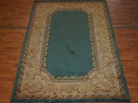 5' X 8' Abusson Frame Traditional Hand-knotted Tan Rectangle Wool Rug