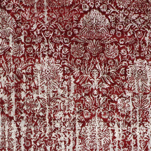 "8'10""x11'8"" Transitional Red Wool & Silk Hand-Knotted Rug"