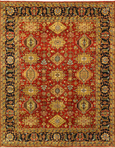 "7'10""x9'11"" Traditional Wool Hand-Knotted Rug"