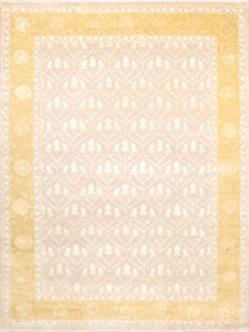 "8'10""x11'9"" Modern Wool & Silk Rug - Direct Rug Import 