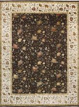 "Load image into Gallery viewer, 9'x12'2"" Traditional Tabriz Wool & Silk Hand-Knotted Rug"