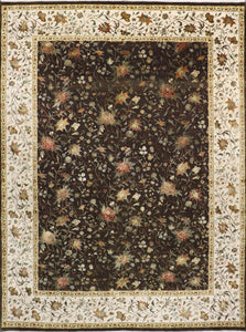 "9'x12'2"" Traditional Tabriz Wool & Silk Hand-Knotted Rug"