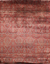 "Load image into Gallery viewer, 7'9""x9'9"" Transitional Wool and Silk Hand-Knotted Rug - Direct Rug Import 