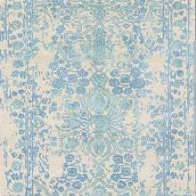 "Load image into Gallery viewer, 3'x9'8"" Transitional Ivory Wool & Silk Hand-Knotted Rug"