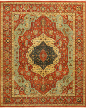 "Load image into Gallery viewer, 7'8""x9'10"" Traditional Serapi Wool Hand-Knotted Rug"