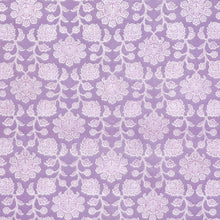 Load image into Gallery viewer, 6'7'' X 10' Tone-On-Tone Lavender Wool & Silk Hand-Knotted Rug