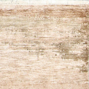 "4'x5'11"" Contemporary Ivory Wool Hand-Knotted Rug"