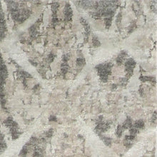 "Load image into Gallery viewer, 2'11""x11'9"" Contemporary Gray & Brown Wool & Silk Hand-Knotted Rug"
