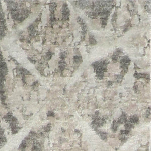 "2'11""x11'9"" Contemporary Gray & Brown Wool & Silk Hand-Knotted Rug"