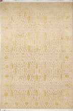 "Load image into Gallery viewer, 3'11""x6'1"" Decorative Wool& Silk Taupe Hand-Knotted"
