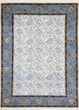 "Load image into Gallery viewer, 5'8""x8' Transitional Ivory Wool & Silk Hand-Knotted Rug - Direct Rug Import 