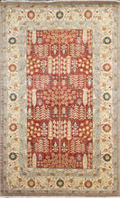 "Load image into Gallery viewer, 6'1""x9'5"" Traditional Rust Herati Wool Hand-Knotted Rug"