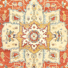 "Load image into Gallery viewer, 6'1""x9'3"" Traditional Ivory Persian Wool Hand-Knotted Rug"