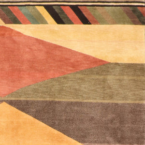 "7'3""x10'9"" Contemporary Tibetan Wool Hand-Knotted Rug"