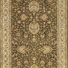 "Load image into Gallery viewer, 4'1""x15' Classic Traditional Green Wool Hand-Knotted Rug"