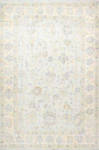 "8'2""x12'4 Classic Decorative Gray-Blue Wool Hand-Knotted Rug"