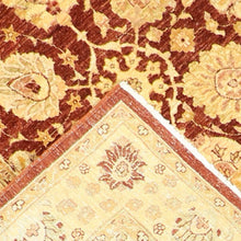 "Load image into Gallery viewer, 4'1""x6'1"" Decorative Rust Hand Spun Wool Hand-Knotted Rug"