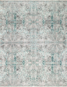 "7'10""x10'2"" Transitional Wool & Silk Hand-Knotted Rug"