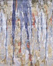 Load image into Gallery viewer, 8'x10' Transitional Wool & Silk Hand-Knotted Rug