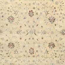 "Load image into Gallery viewer, 9'1""x12' Traditional Kashan Wool & Silk Hand-Knotted Rug"
