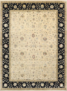 "9'1""x12' Traditional Kashan Wool & Silk Hand-Knotted Rug"