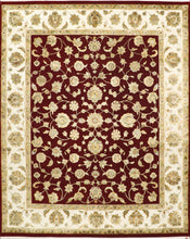 "Load image into Gallery viewer, 8'1""x10' Traditional Red Wool & Silk Hand-Knotted Rug"