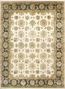 "8'10""x12'3"" Traditional Wool & Silk Hand-Knotted Rug - Direct Rug Import 