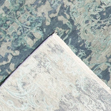 "Load image into Gallery viewer, 3'11""5'11"" Transitional Gray-Blue Wool & Silk Hand-Knotted Rug"