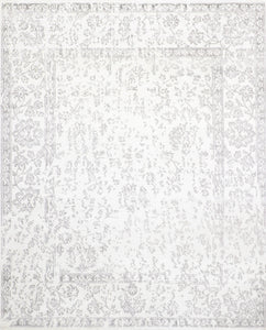 "7'10""x9'8"" Transitional Wool & Silk Hand-Knotted Rug"