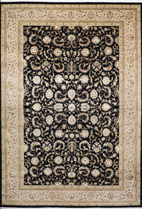 "8'11""x11'10"" Traditional Kashan Rug Wool & Silk Hand-Knotted Rug"
