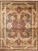 "Load image into Gallery viewer, 8'11""x12'1"" Traditional Navy Wool Hand-Knotted Rug"