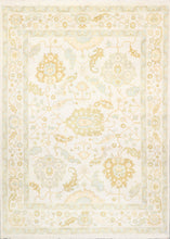 "Load image into Gallery viewer, 8'4""x11'9"" Transiitonal Ivory Oushak Wool Hand-Knotted Rug"