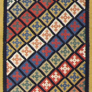 "3'6""x5'Persian Kilim Multi-Color Wool Hand-Knotted Rug - Direct Rug Import 
