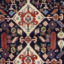 "Load image into Gallery viewer, 3'6""x5' Persian Kilim Navy Wool Hand-Knotted Rug"