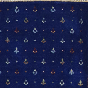 4'x6' Contemporary Gabbeh Blue Wool Hand-Knotted Rug - Direct Rug Import | Rugs in Chicago, Indiana,South Bend,Granger
