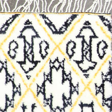 "Load image into Gallery viewer, 4'1""x6'1"" Contemporary Yellow Black Wool Hand-Knotted Rug"