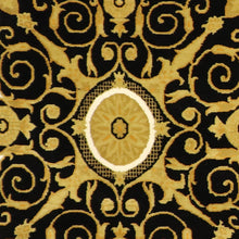 "Load image into Gallery viewer, 5'x7'8"" Versace Black Wool Hand-Knotted Rug"