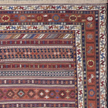 "Load image into Gallery viewer, 6'7""x9'5"" Persian Kilim Red Wool Hand-Knotted Rug"