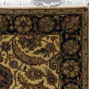 "4'x6'2"" Decorative Gold Wool Hand-Knotted Rug - Direct Rug Import 
