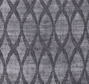"4'10""x6'4"" Transitional Gray Silk Hand-Knotted Rug - Direct Rug Import 
