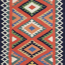 "Load image into Gallery viewer, 2'5""x8'2"" Persian Kilim Green Wool Hand-Knotted Runner"
