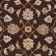 "Load image into Gallery viewer, 4'x6'2"" Decorative Brown Wool & Silk Hand-Knotted Rug - Direct Rug Import 
