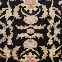 "Load image into Gallery viewer, 5'11""9'9"" Decorative Black Tabriz Wool Hand-Knotted Rug - Direct Rug Import 