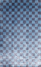 "Load image into Gallery viewer, 5'1""x8' Contemporary Blue Bamboo Silk Hand-Knotted Rug"