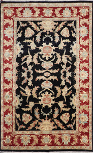 "5'11""9'9"" Decorative Black Tabriz Wool Hand-Knotted Rug - Direct Rug Import 