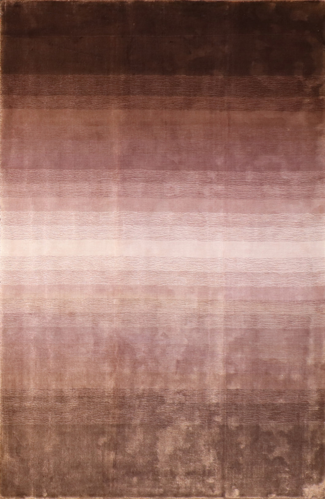 "5'1""x7'9"" Contemporary Purple Bamboo Silk Hand-Knotted Rug"