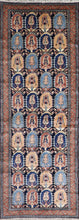 "Load image into Gallery viewer, 3'4""x9'6"" Antique Traditional Black Tribal Wool Hand-Knotted Rug - Direct Rug Import 
